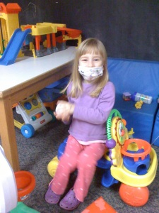 Kaylee with mask